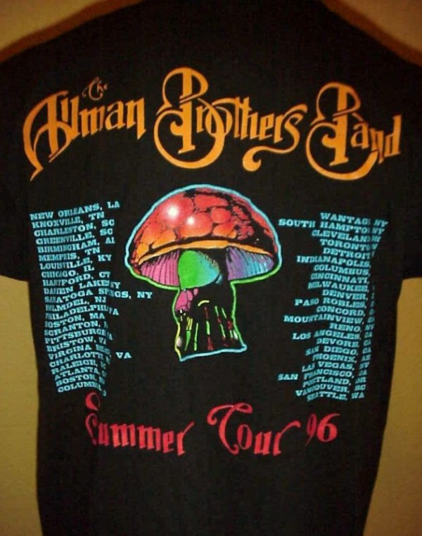 Allman Brothers Tour Shirts